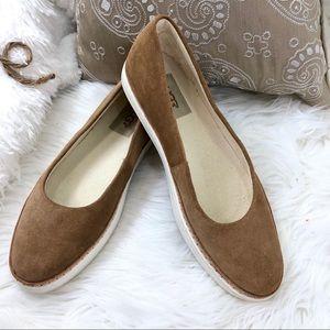Ugg suede leather Kammi Shoe Sz 8 Slip on Ballet